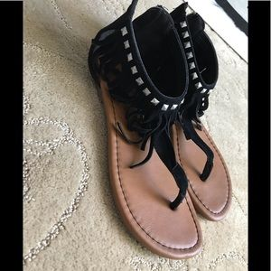 Shoes - Black Studded Sandals